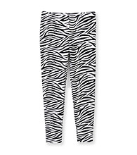 Miss Attitude Girls' 7-16 Black/White Zebra Print Leggings