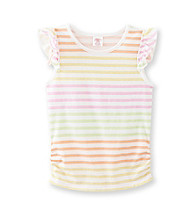Little Miss Attitude Girls' 2T-6X Flutter Sleeve Tank