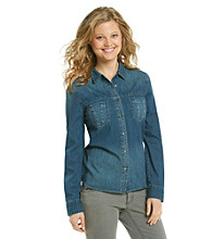 DKNY JEANS® Cape Wash Denim Shirt