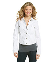 Oneworld® White Denim Jacket