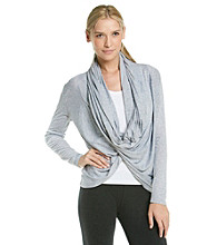 Calvin Klein Performance Infinity Button Neck Wrap Top