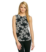 Calvin Klein Abstract Printed Pintuck Cami