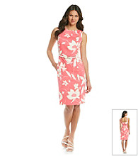 Muse Jacquard Bow Belt Sheath Dress