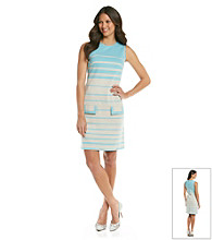 Muse Button Back Verigated Striped Dress