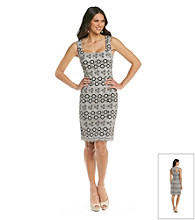 Muse Fitted Pattern Lace Sheath Dress
