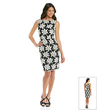 Muse Embroidered Daisy Floral Sheath