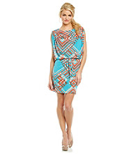 Jessica Simpson Printed Blouson Dress