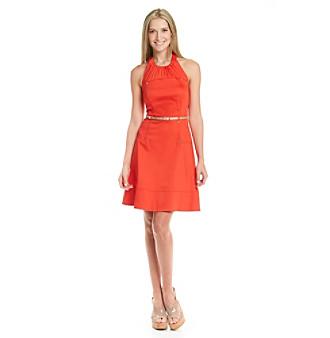 Women Dress on Homepage Women Calvin Klein Calvin Klein Halter Full Skirt Dress With