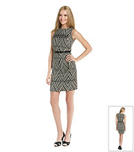 Anne Klein® Zipper Pocket Sheath Dress