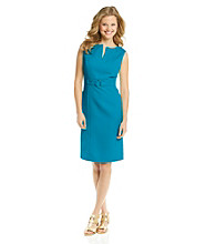 Tahari by Arthur S. Levine® Splitneck Jacquard Sheath Dress