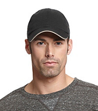 Isotoner® Lake of the Isles™ Men's Black & Khaki Chino Baseball Cap