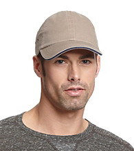 Isotoner® Lake of the Isles™ Men's Khaki & Navy Chino Baseball Cap
