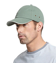 Isotoner® Lake of the Isles™ Men's Pine & Stone Washed Basic Chino Baseball Cap