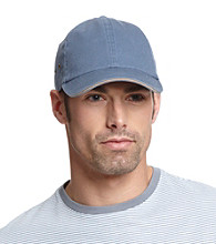 Isotoner® Lake of the Isles™ Men's Indigo & Khaki Washed Basic Chino Baseball Cap
