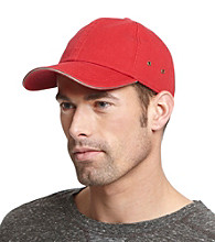 Isotoner® Lake of the Isles™ Men's Red & Khaki Washed Basic Chino Baseball Cap