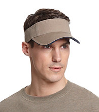 Isotoner® Lake of the Isles™ Men's Khaki & Navy Washed Two-Tone Visor