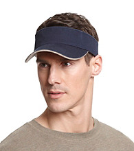 Isotoner® Lake of the Isles™ Men's Navy & Khaki Washed Two-Tone Visor