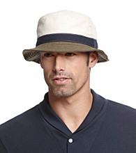 Isotoner® Lake of the Isles™ Men's Natural Canvas Colorblock Bucket Hat