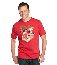 Paradise Collection® Men's Red Holly Berry Short Sleeve Jersey Screenprint Tee
