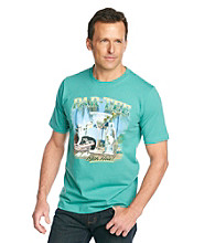 Paradise Collection® Men's Aqua Tile Short Sleeve Screenprint Tee
