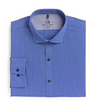 Geoffrey Beene® Men's Dark Blue Stripe Dress Shirt
