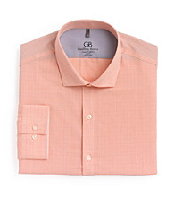 Geoffrey Beene® Men's Coral Plaid Spread Collar Dress Shirt