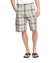 Ruff Hewn Men's Nantucket Fog Plaid Cargo Short
