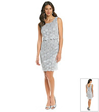 Cachet® Popover Beaded Daisy Lace Dress