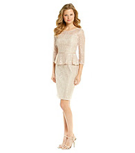 Adrianna Papell® Lace Peplum Dress