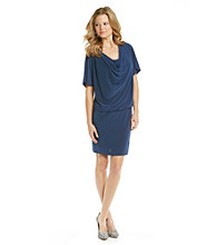 Ronni Nicole® Drapeneck Blouson Knit Dress