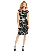 Ronni Nicole® Bird Print Knit Dress