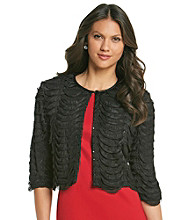 R & M Richards® Scallop Ruffle Shrug