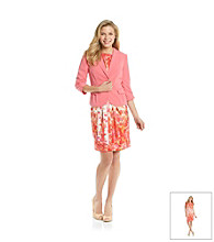 Jessica Howard® Blouson Print Jacket Dress