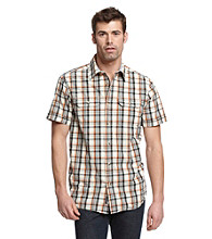 Ruff Hewn Men's Grey Moon Short Sleeve Plaid Woven