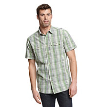 Ruff Hewn Men's Willow Brough Short Sleeve Plaid Woven