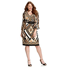 R & M Richards® Plus Size Print Knit Dress