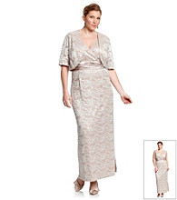 R & M Richards® Plus Size Lace Jacket Dress