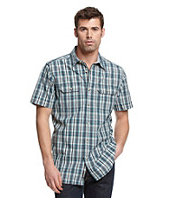 Ruff Hewn Men's Navy Breeze Short Sleeve Plaid Woven
