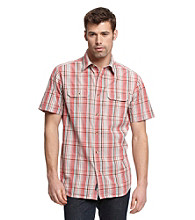 Ruff Hewn Men's Coral Bloom Short Sleeve Plaid Woven