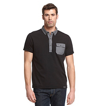 Calvin Klein Jeans® Men's Black Jersey Polo