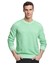 Calvin Klein Jeans® Men's Vivid Green Dyed Acid Wash Sweater