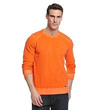 Calvin Klein Jeans® Men's Spice Orange Dyed Acid Wash Sweater