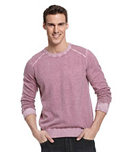 Calvin Klein Jeans® Men's Deep Orchid Acid Wash Yarn-Dyed Lightweight Sweater