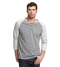 Calvin Klein Jeans® Men's Quarter Sleeve Henley Novelty Baseball Tee