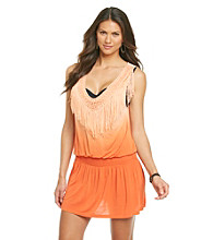 Oneworld® V-neck Romper Dress With Fringe