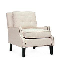 Baxton Studios Norwich Linen Modern Lounge Chair