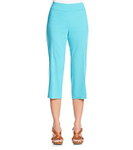 Briggs New York® Pull-On Stretch Waistband Crop Pant