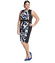 Calvin Klein Plus Size Mixed Print Dress
