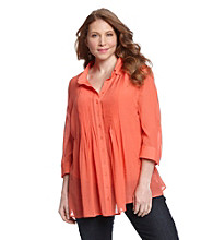 Fever™ Plus Size Pleated Blouse With Cami