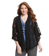 Fever™ Plus Size Lace Cardigan